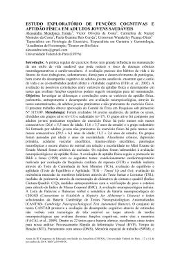 estudo exploratório de funções cognitivas e aptidão física em