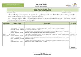 Educação Física - Agrupamento de Escolas Poeta Joaquim Serra