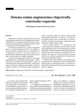 Sistema renina-angiotensina e hipertrofia ventricular esquerda
