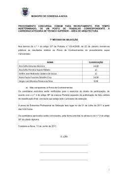 NOME CLASIFICAÇÃO Ana Sofia Antunes Moreira 14,00 Ana Sofia