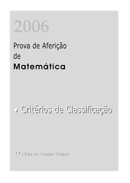 • Critérios de Classificação • Critérios de Classificação