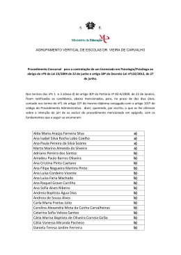 Alda Maria Araújo Ferreira Silva a) Ana Isabel Silva Rocha Lobo