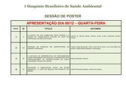 COMUNICAÇÕES ORAIS - Instituto Evandro Chagas