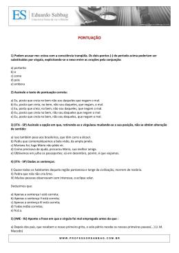 EXERCÍCIOS - pontuação - Professor Eduardo Sabbag