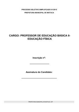 Professor Ed. Básica II - Ed.Física