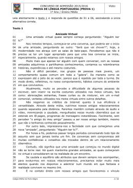PROVA 1 - Colégio Militar de Porto Alegre