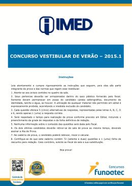 2015-1 - IMED Vestibular de Verão 2016