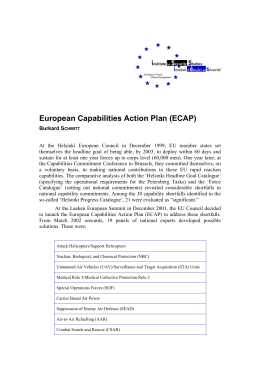 European Capabilities Action Plan (ECAP)
