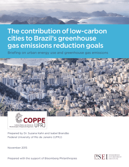 The contribution of low-carbon cities to Brazil`s greenhouse gas