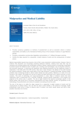 Malpractice and Medical Liability