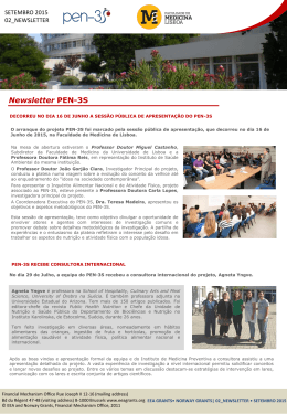 2ª Newsletter PEN-3S
