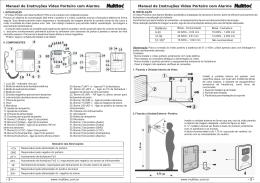 Manual de Instruções Vídeo Porteiro com Alarme Manual