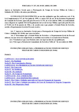 Portaria nº 257 - Cmt Ex, 30 ABR 2009