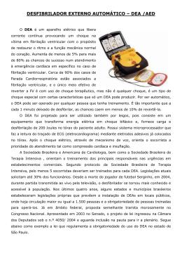DEA - Desfibrilador Externo Automático