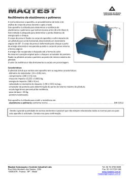 Resiliômetro de elastômeros e polímeros