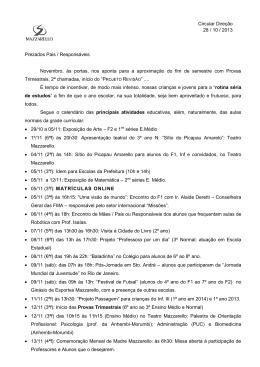 DATAS NOVEMBRO Data - Instituto Madre Mazzarello