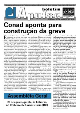 Conad aponta para construção da greve Assembléia Geral