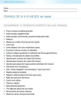 CRIANÇA DE 18 A 21 MESES de idade