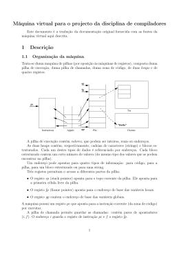 Máquina virtual para o projecto da disciplina de compiladores 1
