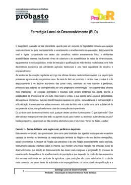 Estratégia Local de Desenvolvimento (ELD)