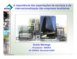A importância das exportações de serviços e da