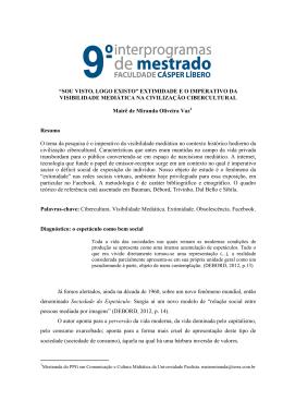 SOU VISTO, LOGO EXISTO - Faculdade Cásper Líbero