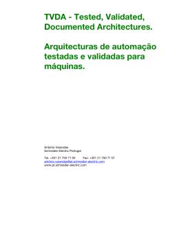 TVDA - Tested, Validated, Documented