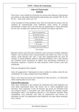 LISTAS - Professor Marcelo Nogueira