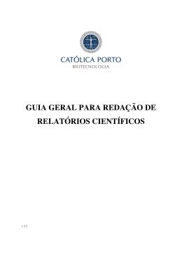 guia geral para redação de relatórios científicos