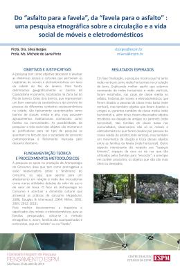 """Do """"asfalto para a favela"""", da """"favela para o asfalto"""" : uma pesquisa"""