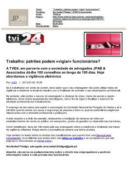 "The clarifications of Ana Isabel Fidalgo at TVI24.pt website, in ""100"