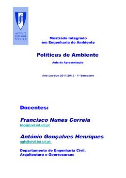 Francisco Nunes Correia António Gonçalves Henriques
