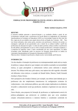 FORMAÇÃO DE PROFESSORES DA ESCOLA BÁSICA