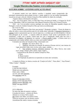ESTUDOS SOBRE ANTONIO GONÇALVES DIAS