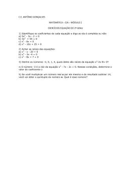 C.E. ANTÔNIO GONÇALVES MATEMÁTICA – EJA – MÓDULO 2