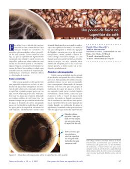 Um pouco de física na superfície do café