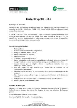 Cortec® VpCI® - 414 - Presserv do Brasil Ltda.