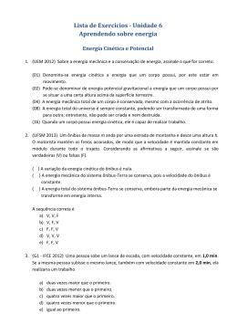 Lista de Exercícios - Unidade 6 Aprendendo