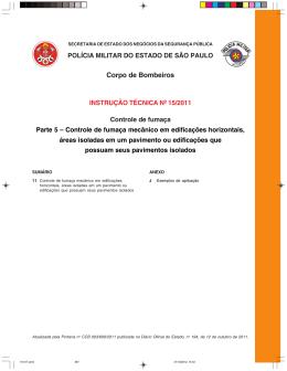 Instrução Técnica nº 15 – Parte 05/2011