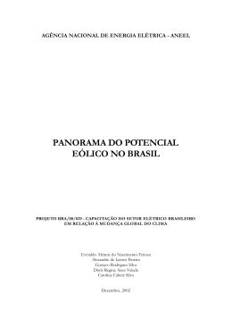 panorama do potencial eólico no brasil