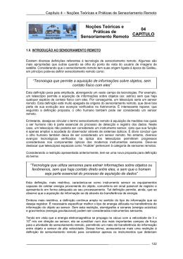 Noções Teóricas e Práticas de Sensoriamento Remoto 04 CAPÍTULO