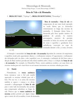 Brisa de Vale e Montanha