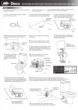 instruções de instalação para bacia com caixa acoplada