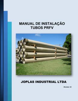 MANUAL DE INSTALAÇÃO TUBOS PRFV