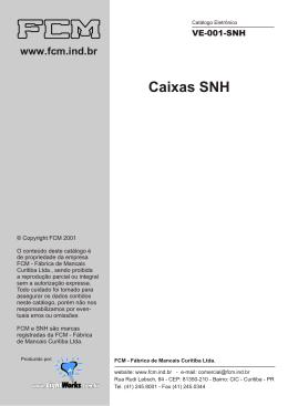 FCM - Catálogo Caixas SNH