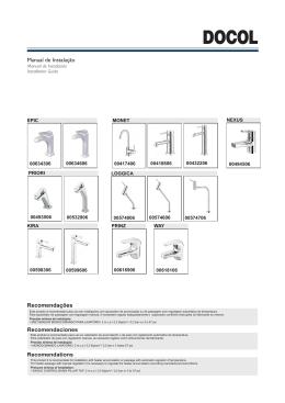 Manual de Instalação Recomendações