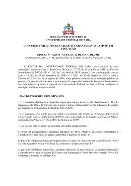 Edital nº 72/2015 - Ceps - Universidade Federal do Pará