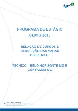 Técnico de Belo Horizonte e Contagem
