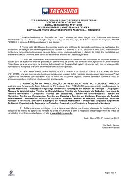 Edital n° 011/2015 - Objetiva Concursos