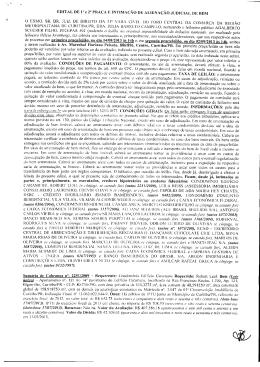 EDITAL DE Ia e 2a PRAÇA E INTIMAÇÃO DE ALIENAÇÃO